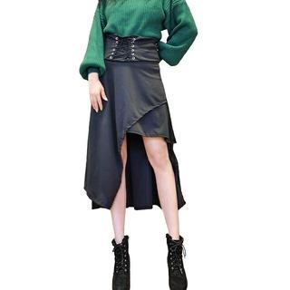 EATME - アシンメトリー編み上げスカート 【607】