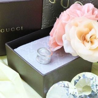 グッチ(Gucci)の☆新品☆未使用☆Gucci グッチ ブランデッドオープンGリング12号(リング(指輪))