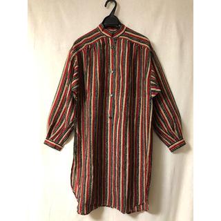 Christian Dior - 値下【Vintage】クリスチャンディオール♡マオカラーロングシャツ
