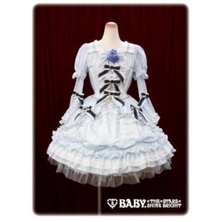 BABY,THE STARS SHINE BRIGHT - blooming fairy doll ワンピース ドレス サックス