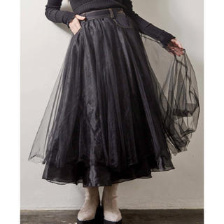 メリージェニー(merry jenny)のチュールスカート(ロングスカート)