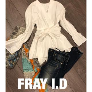 FRAY I.D - FRAY I.D カシュクールブラウス ウエストリボン