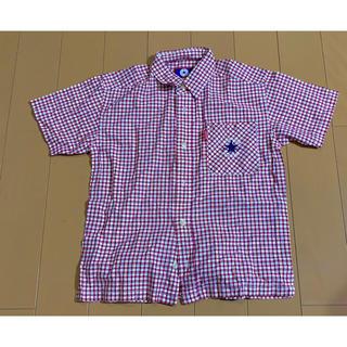 コンバース(CONVERSE)のCONVERSE コンバース チェック 半袖シャツ 赤 140cm used(Tシャツ/カットソー)