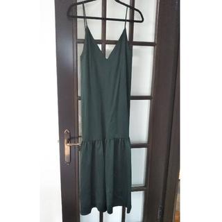 LE CIEL BLEU - LECIELBLUE サテンロウギャザードレス