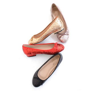 merlot - 《◆即納◆》グリッターシューズ★バレエシューズ★フラットシューズ★ぺたんこ靴