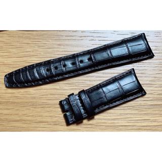 インターナショナルウォッチカンパニー(IWC)の【新品】IWC純正 アリゲーター 時計ベルト ブラック 22mm-18mm(レザーベルト)
