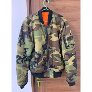 ALPHA INDUSTRIES - アルファ 迷彩 MA-1 XL