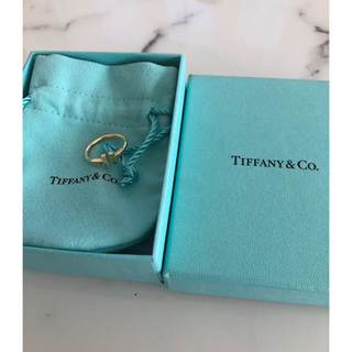 Tiffany & Co. - Tiffany Tワイヤーリング イエローゴールド ♯9 ティファニー