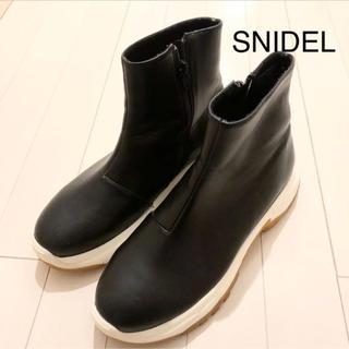 スナイデル(snidel)のSNIDEL ショートブーツ L スナイデル ブラック  (ブーツ)