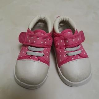 西松屋 ピンク ドッド柄 靴 13cm
