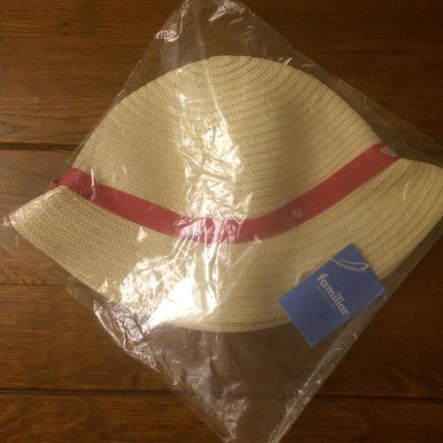 familiar(ファミリア)のファミリア 新品 タグ付 麦わら 帽子 サイズ55 リアちゃん キッズ/ベビー/マタニティのこども用ファッション小物(帽子)の商品写真