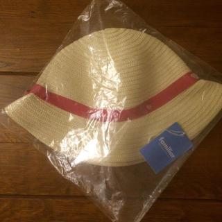 familiar - ファミリア 新品 タグ付 麦わら 帽子 サイズ55 リアちゃん