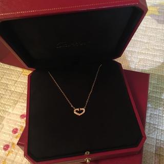 Cartier - 美品⭐️Cartier Cハートフルダイヤネックレス ゴールド