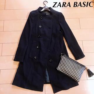 ZARA - ZARA BASIC‼️シンプルなコート 紺