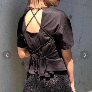 Ameri VINTAGE - アメリヴィンテージ ♡バックレースアップ紐Tシャツ
