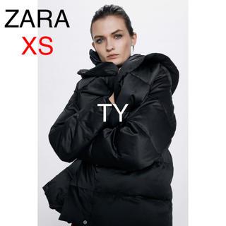 ザラ(ZARA)の完売品 ザラ XS 撥水加工 ダウン コート ジャケット フード ファー ボア(ダウンコート)