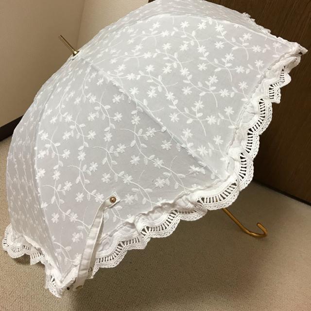 evelyn(エブリン)のevelyn ノベルティ レース日傘(ホワイト) レディースのファッション小物(傘)の商品写真