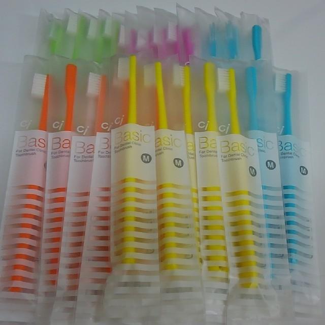30本 歯科専売歯ブラシCiベーシック フラット毛 大人用 日本製  コスメ/美容のオーラルケア(歯ブラシ/デンタルフロス)の商品写真