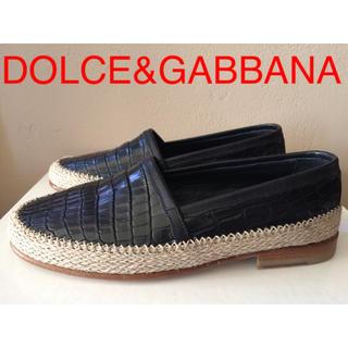 ドルチェアンドガッバーナ(DOLCE&GABBANA)の新品 DOLCE&GABBANA クロコ型押し レザーローファー ドルガバ(スリッポン/モカシン)
