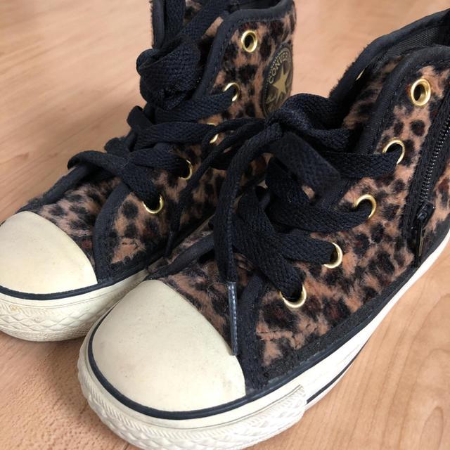 CONVERSE(コンバース)のコンバース ハイカット ヒョウ柄 キッズ/ベビー/マタニティのキッズ靴/シューズ(15cm~)(スニーカー)の商品写真