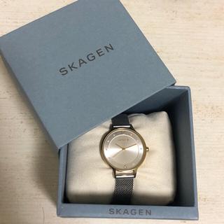 スカーゲン(SKAGEN)のANITA ツートーンスチールメッシュウォッチ(腕時計)
