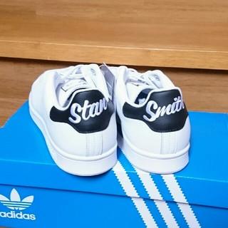 アディダス(adidas)の【1足限定‼再入荷】28㎝ ブラック スタンスミス レア レザー 希少 黒 刺繍(スニーカー)