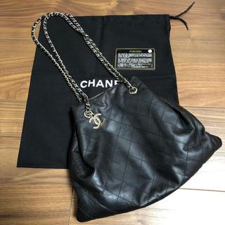 CHANEL - シャネル ドローストリングバッグ ブラック シルバー金具