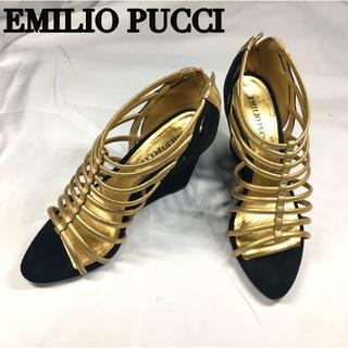 EMILIO PUCCI - EMILIO PUCCI エミリオプッチ スエード ウェッジヒール 23.5cm