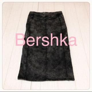 ベルシュカ(Bershka)の☘T2722☘Bershka ケミカル ストレッチ スカート S(ひざ丈スカート)