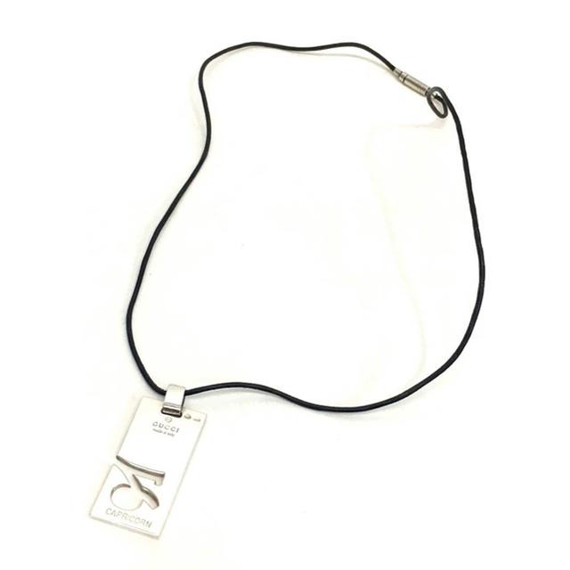Gucci(グッチ)のGUCCI(グッチ) ネックレス  シルバー CAPRICORN(やぎ座) レディースのアクセサリー(ネックレス)の商品写真