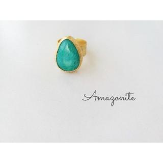 『amazonite』の世界でひとつの天然石リング(リング(指輪))
