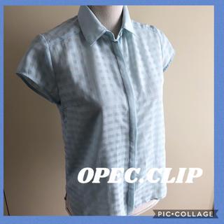 OPAQUE.CLIP - オペークドットクリップ シアーチェックブラウス