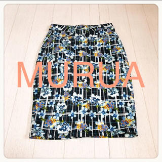 MURUA - ☘T2750☘MURUA 花柄 ストレッチ スカート M