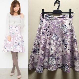 PROPORTION BODY DRESSING - 春服♡プロポーションボディドレッシング♡ビッグフラワージャガードスカート