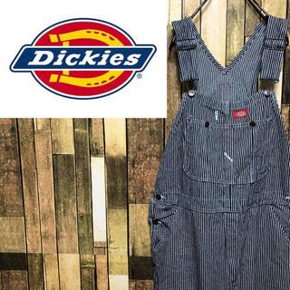 Dickies - 【激レア】ディッキーズ☆メキシコ製ロゴタグ入りヒッコリーオーバーオール