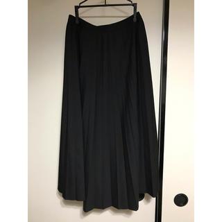 UNIQLO - UNIQLO プリーツスカート ブラック