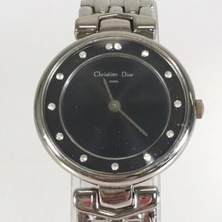 Christian Dior - クリスチャンディオール ラインストーン クォーツ 腕時計 レディース