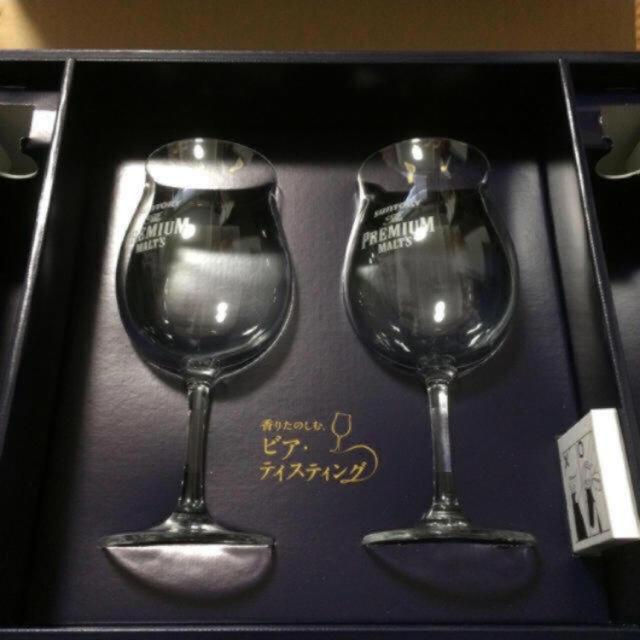 サントリー(サントリー)のワイングラス ペア 新品未使用 インテリア/住まい/日用品のキッチン/食器(グラス/カップ)の商品写真