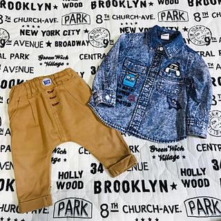 パーティーパーティー(PARTYPARTY)の bit'z しまうまポケット変形パンツ partyparty おばけシャツ(パンツ)