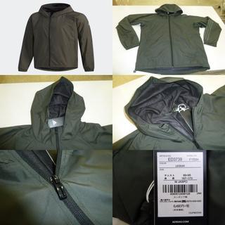 adidas - M緑)アディダス★ウィンドブレーカージャケット FYB84 フード付暖か裏地防風