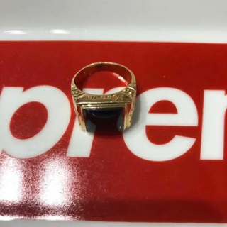 Supreme - supreme onyx ring 14k シュプリームオニキスリング