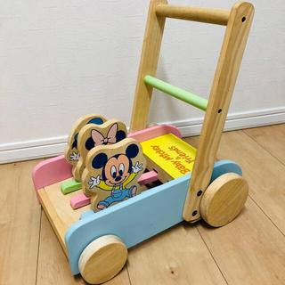 ディズニー(Disney)の木製 ミッキーのカタカタ❤️(手押し車/カタカタ)