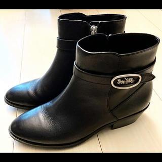 COACH - SALE‼️ 新品未使用❣️COACH ベルテッドショートブーツ 黒 24.5