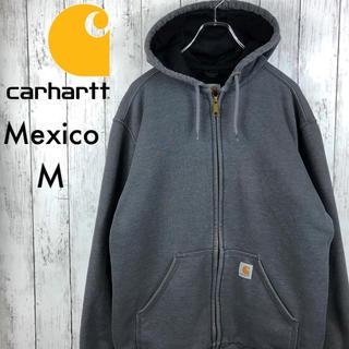 carhartt - 【希少】【メキシコ製】【カーハート】ジップパーカー☆タグ刺繍☆M☆濃灰