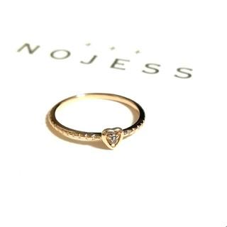 ノジェス(NOJESS)のノジェス NOJESS K10 一粒ダイヤモンドピンキーリング 2号(リング(指輪))