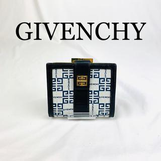 ジバンシィ(GIVENCHY)の美品 GIVENCHY 二つ折り財布  ロゴ金具(折り財布)