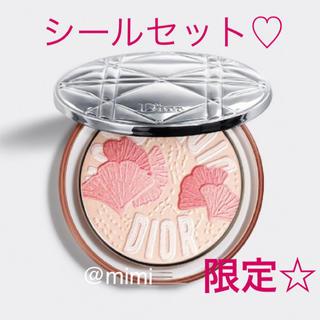 Christian Dior - 限定♡ ディオール ミネラルヌードルミナイザーパウダー 012 限定シールセット
