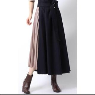 Mila Owen - ミラオーウェン Mila Owen レイヤード風プリーツスカート 完売カラー