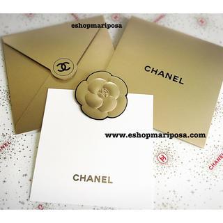 シャネル(CHANEL)のシャネル レア♪メッセージカード & 封筒のセット 素敵なゴールド ココマーク (カード/レター/ラッピング)