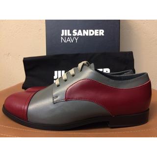 Jil Sander - 新品 ジルサンダー ネイビー レザー ダービーシューズ バイカラー 革靴
